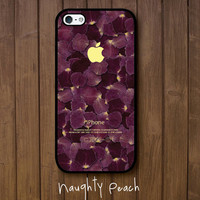 iPhone 5 Case, iPhone 5S Case - Violet flower leaves / iPhone 5S Case, iPhone 5S Cover, Cover for iPhone 5S, Case for iPhone 5S