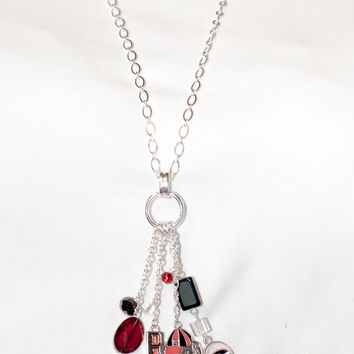 Georgia Bulldogs Multi-Charm Long Necklace