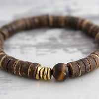 Tiger Eye Bracelet Yoga Bracelet Yoga Jewelry Tiger Eye Jewelry Energy Meditation Stacking Bracelet Natural Jewelry Unisex Yoga Gifts