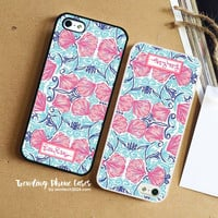 Pink Cloyster-Lilly Pulitzer iPhone Case Cover for iPhone 6 6 Plus 5s 5 5c 4s 4 Case