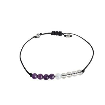 Crown Chakra ~ Choose a String Color ~ Amethyst, Crystal Quartz & Moonstone