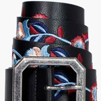 Frankie Embroidered Boyfriend Belt | Boohoo