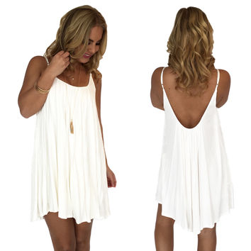 Melody Jersey Dress In White