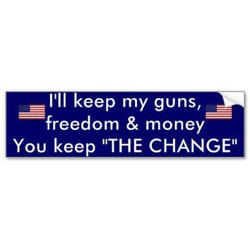 keep you guns bumper sticker from Zazzle.com