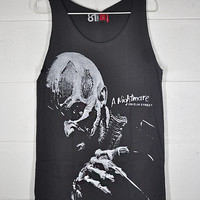 Frederick Charles Freddy Krueger A Nightmare on Elm Street Cotton Unisex Dark Gray Vest Tank Top S to XL