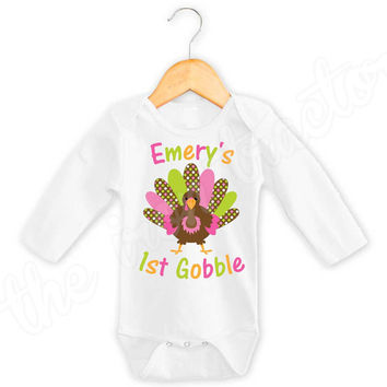 My 1st Thanksgiving Onesuit / Shirt / Bib ~ Digital Transfer ~ First Thanksgiving