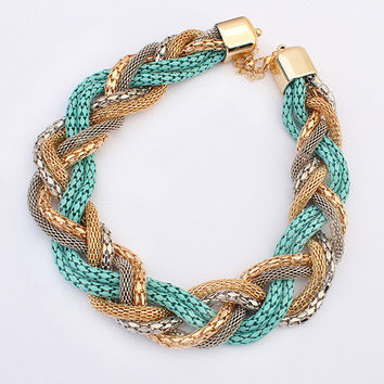 Jewelry New Arrival Gift Shiny Bohemia Twisted Stylish Korean Necklace [6586303623]