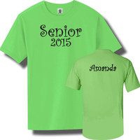 Class of 2015 Personalized Senior Shirt in Lime Green