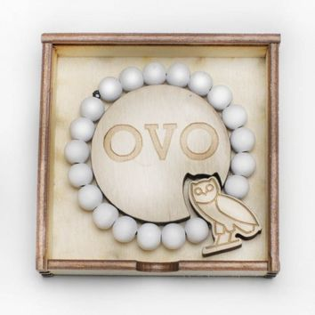 Drake OVO OWL White Wooden Bracelet - WeHustle.co.uk | U want it WE got it | WeHustle Enterprises Limited.