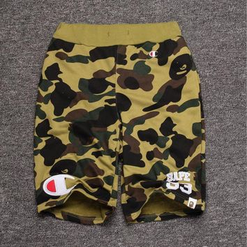 Men's Fashion Camouflage Alphabet Casual Shorts [211465568268]