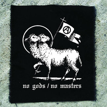 No gods / no masters patch • punk patch • back patches • protest patch • punk aufnäher • religious • punk accessories • sew on patches