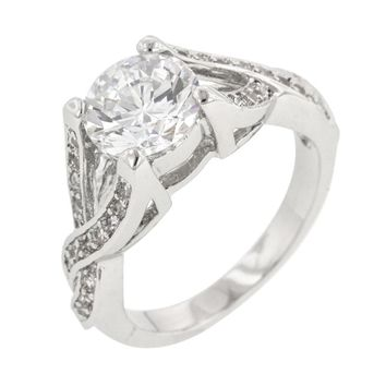 Brilliant Twist Engagement Ring Size 9