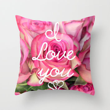 I Love you Throw Pillow by RichCaspian