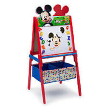 Disney Mickey Mouse Wooden Double Sided Easel with Storage