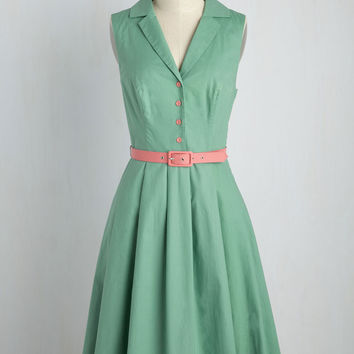 It's an Inspired Taste Dress in Sage