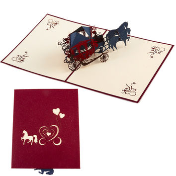 Greeting Card Wedding Party Invitation Carriage