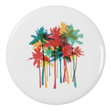 "Paint Splash Palm Trees 2.25"" Round Pin Button"