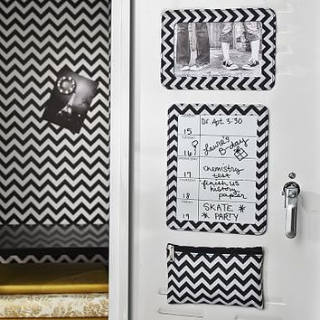 Locker Organizer Bundle, Black Chevron