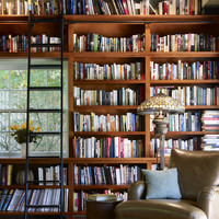 Library wall - traditional - family room - philadelphia - by Krieger + Associates Architects Inc