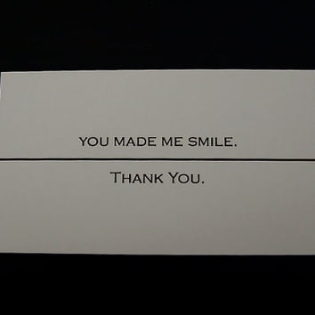 Set of 10 You Made Me Smile Thank You by AnythingForMyKids