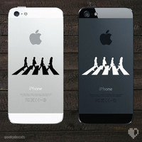 The Beatles Abbey Road iPhone Decal by geekydecals on Etsy