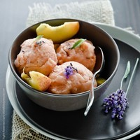 What's For Lunch Honey   Experience Your Senses: Peach and Lavender Sorbet