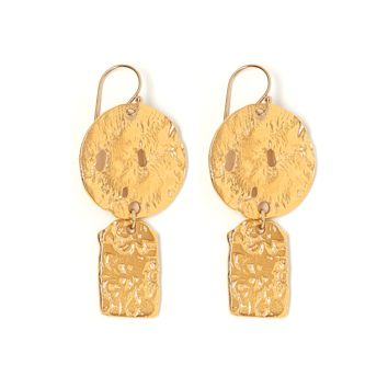 Tess and Tricia Lyra Gold Disc + Penta Earring