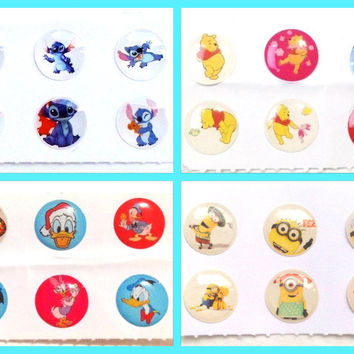 24x Cute Cartoons Bubble Home Button Stickers for iPhone iPad 1 2 3 4 iPad Air Mini iPod Touch Nano iPhone6 iPhone5 iPhone4