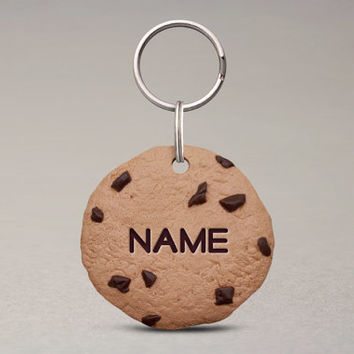 Chocolate Chip Cookie Pet ID Tag - Fun Pet Tags, For Cats And Dogs, Awesome Pet Accessories
