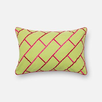 Loloi Lime / Pink Decorative Throw Pillow (P0312)