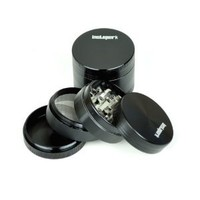 "Instapark™ 2.00"" B Premium Quality Tobacco Herb Grinder, Color Black"