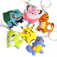 Pikachu Keychain Pocket Monsters Pokemon Key Rings 16