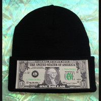 GET MONEY BEANIE // Soft Grunge // Cyberwave