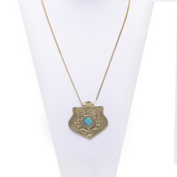 Turquoise Warrior Pendant Necklace | VidaKush