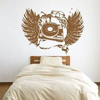 ik1314 Wall Decal Sticker DJ electronic music techno bedroom living room recording studio
