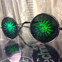 HOLOGRAM Sun Sunglasses 90s