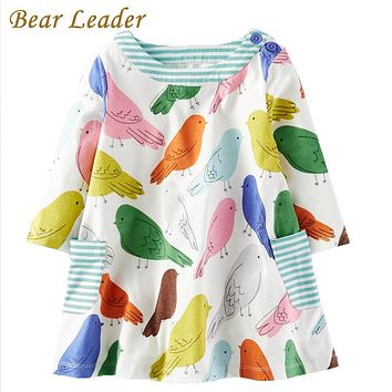 Girls Dress Girls Clothes Cartoon Printing Design Baby Girls Dress