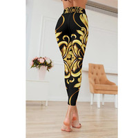 Elysium | Fashion Yoga Leggings Pants, Spandex Women Activewear, Workout Leggings, LINQ LA Exclusively Printed  Leggings, Made in USA
