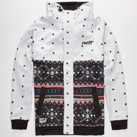 Neff Death Isle Shred Mens Jacket White  In Sizes