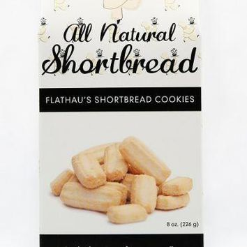 Flathau's Shortbread Cookie Snaps - Original (Plain) 8 oz. Box