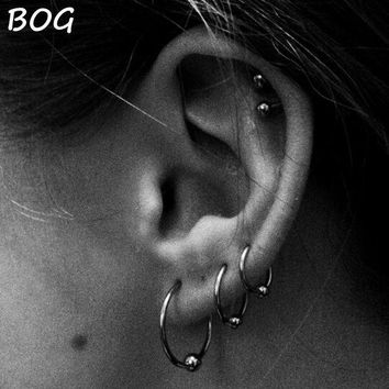 ac DCCKO2Q 3 Pairs Extra Large Size Surgical Steel Captive Bead Ring Hoop Ring Ear Tragus Cartilalge Piercing Body Jewelry Earring 16g 14g
