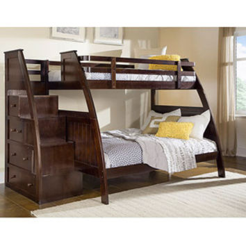 Walmart: Canwood Overland Twin over Full Bunk Bed with Built in Stairs Drawers, Espresso