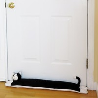 "Evelots 36"" Cat Door Draft Stopper, Save Energy & Money, Keep Heat In"