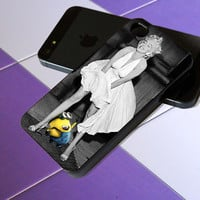 minion despicable me look marilyn monroe - iPhone 4 / iPhone 4S / iPhone 5 / Samsung S2 / Samsung S3 / Samsung S4 Case Cover