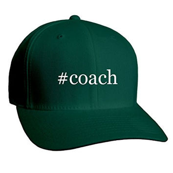 #coach - Hashtag Adult Men's Hat Baseball Cap, Forest, Large/X-Large