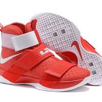 HCXX Nike Men's Lebron Soldier 10 Basketball Shoes Red 40-46