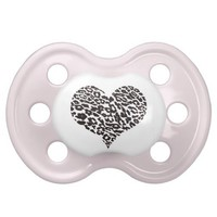 leopard heart baby pacifier from Zazzle.com