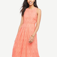Eyelet Swirl Midi Dress | Ann Taylor