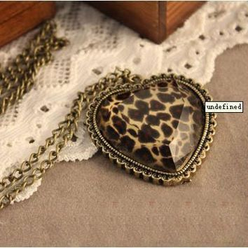Gift Shiny New Arrival Jewelry Accessory Korean Stylish Fashion Leopard Pendant Sweater Chain Necklace [6057525953]