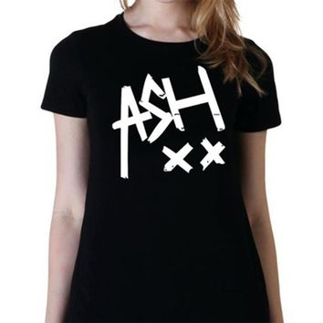 Women 5 Seconds of Summer Band SOS XX Letter Print T Shirt Fangirl Tumblr Music Funny Cotton Tee Shirt Tops ASHTON IRWIN